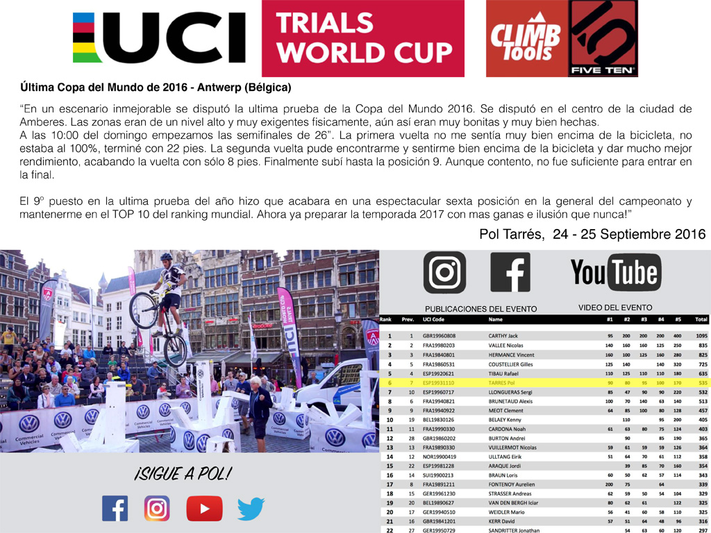 #5 UCI Trials World Cup - Antwerp (BEL) ESP